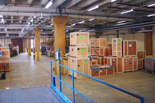 Cross dock ladingen en Warehousing